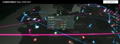 Kaspersky-Karte zeigt Cyber-Bedrohungen