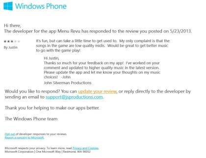 Windows Store Feedback