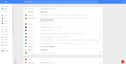 Neue Gmail-Optik (Leak von Geek.com)