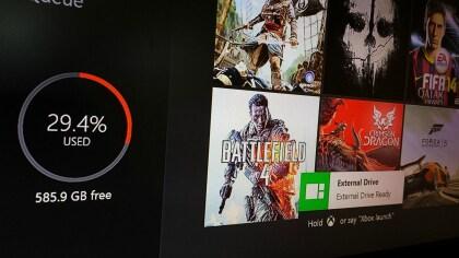 Xbox One: Unterst�tzung externer Festplatten