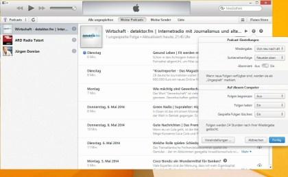 iTunes 11.2 - Podcast neu