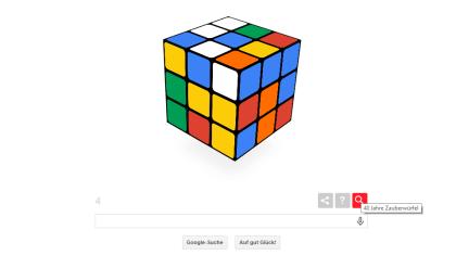 Google Doodle: 40 Jahre Zauberwürfel