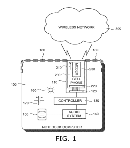 Google-Patent: Notebook mit Smartphone-Dock