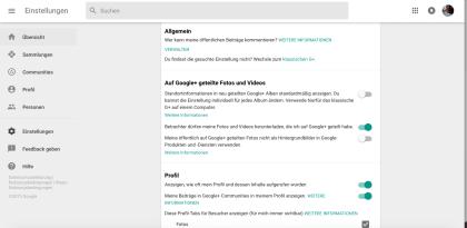 Neue Optik bei Google+