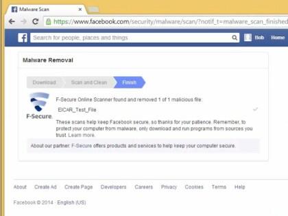 Facebook Virenscan