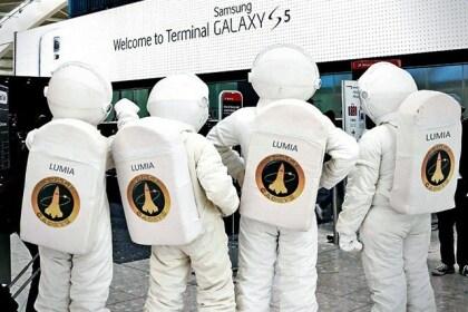 Lumianauten auf dem Flughafen Heathrow