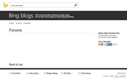Bing Webmaster Foren
