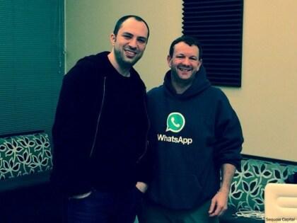 Die WhatsApp-Mitgründer Jan Koum und Brian Acton
