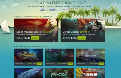 GOG 2014 DRM-Free Summer Sale