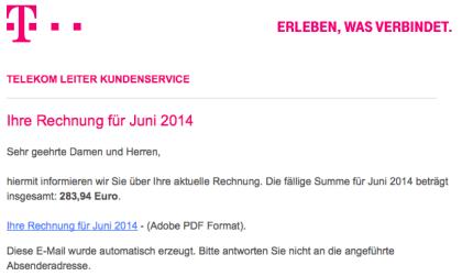 Telekom-Spam