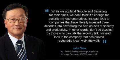Blackberry-CEO John Chen über Android-Sicherheit