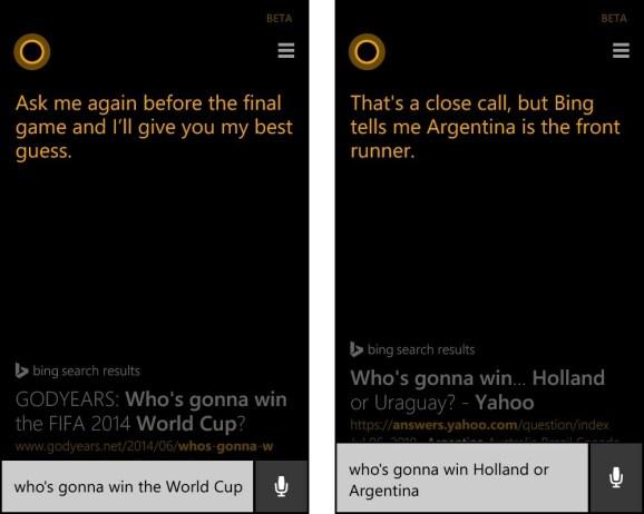 WM 2014: Cortana sagt Ergebnisse voraus
