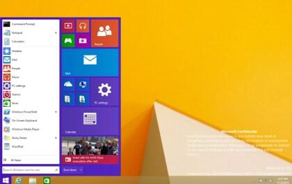 """Startmenü von Windows """"Threshold"""" (Build 9788)"""