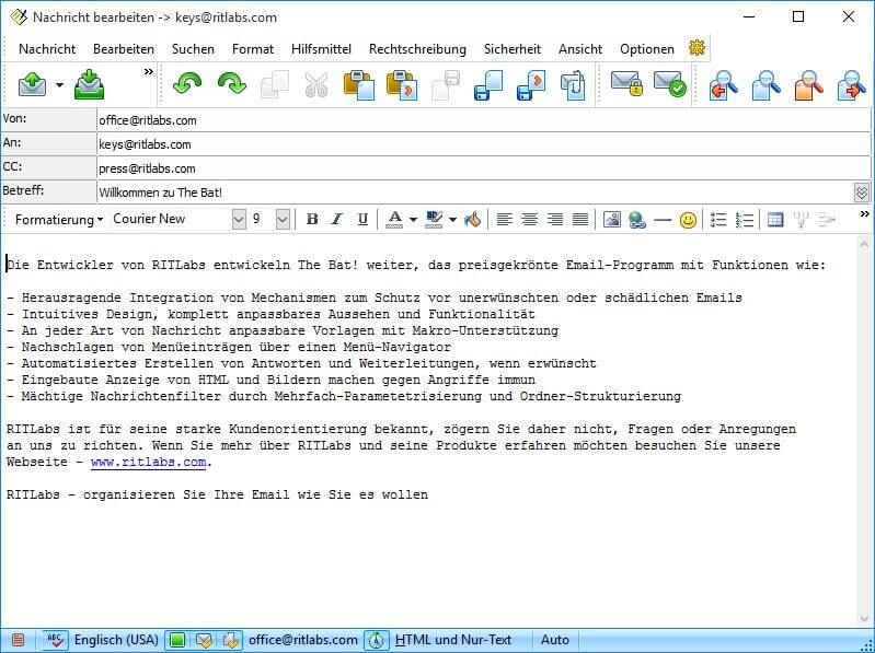 The Bat! - Vielseitiger E-Mail-Client Download