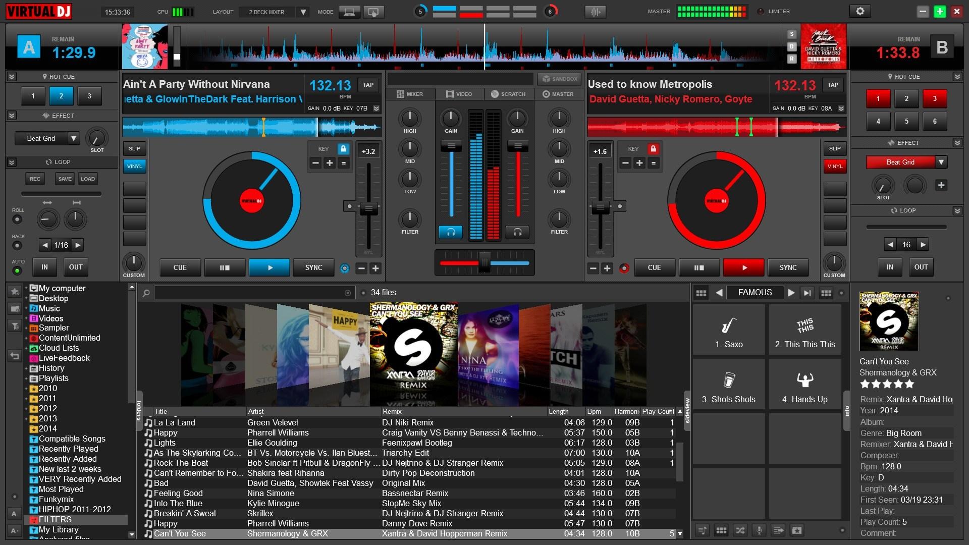 Das Mischpult Von Virtual DJ