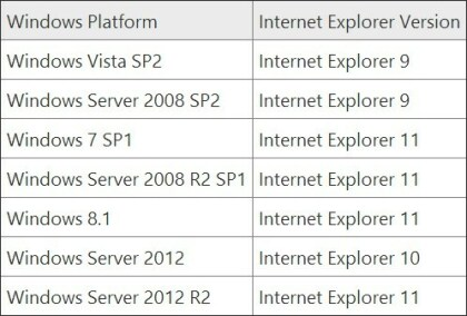 Internet Explorer Support-Ende