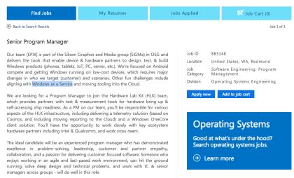 Windows as a Service in Microsoft-Jobangebot