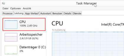 Windows CPU Takt ändern