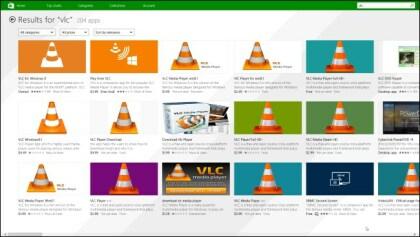VLC für Windows 8 im Windows Store