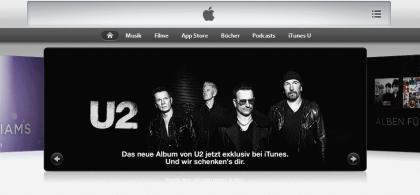 U2-Album auf iTunes