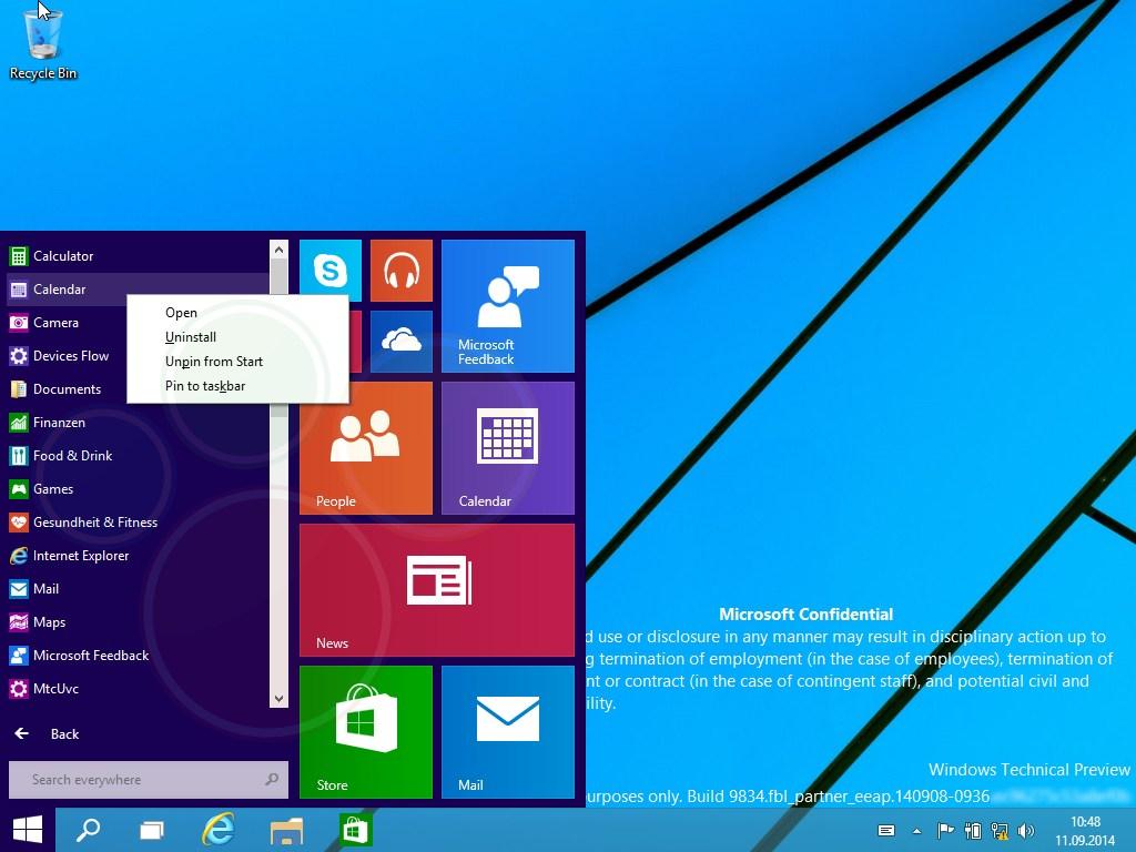Windows 10: Internes Dokument spricht von Sommer-2015-Release
