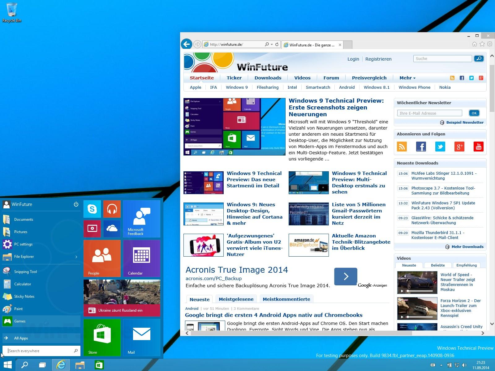 Windows 10: RTM wird Anpassung der Startmenü-Größe unterstützen