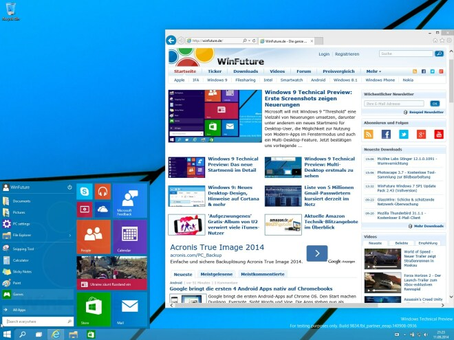 Windows 10 Preview (Build 9834)