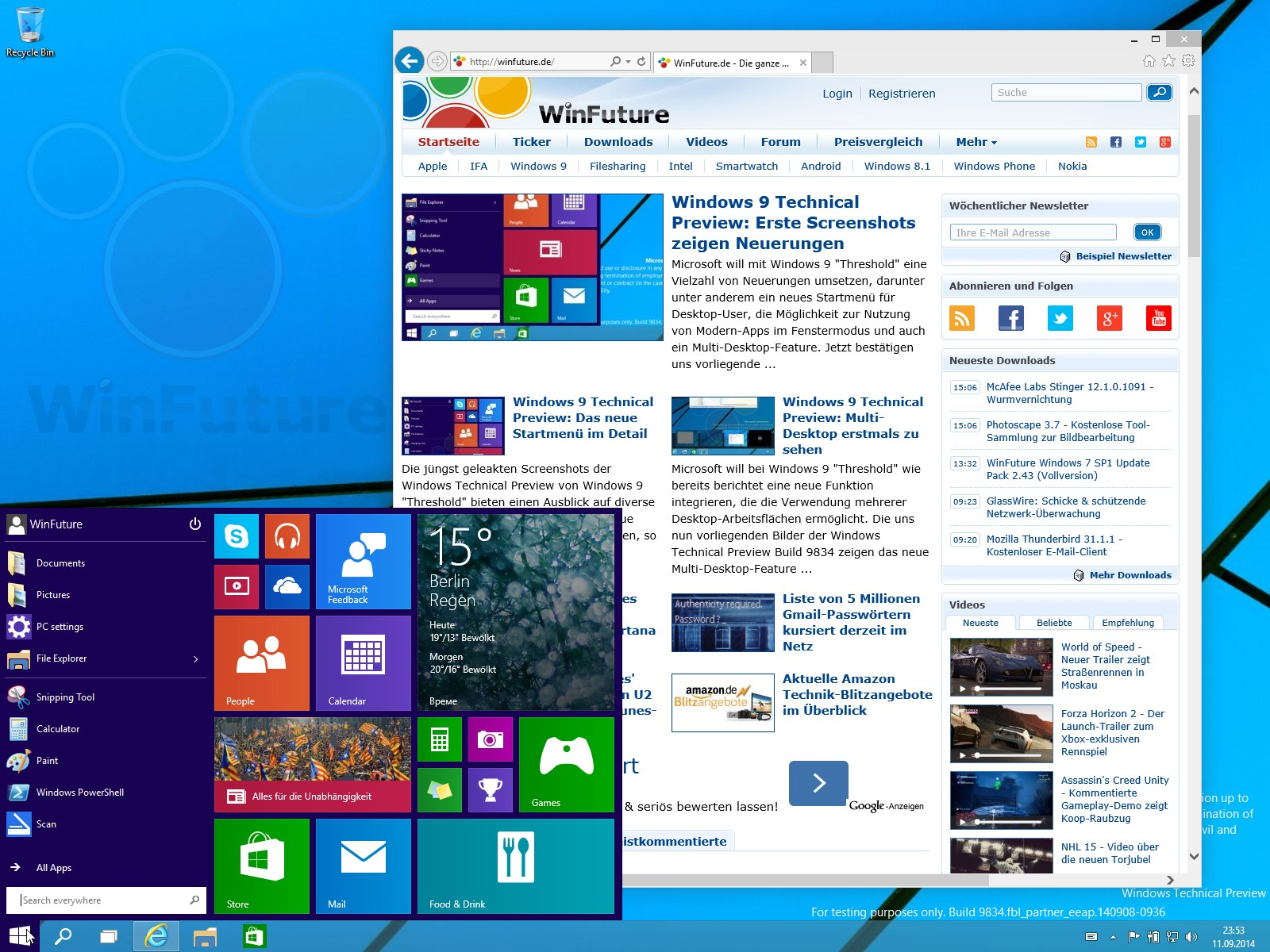 Windows 8.1 Update 3 spendiert Surface RT & Co ein Startmenü