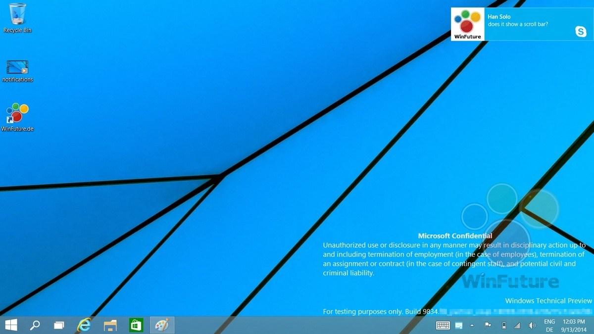 Windows 10: Notification Center lässt sich per Trick aktivieren