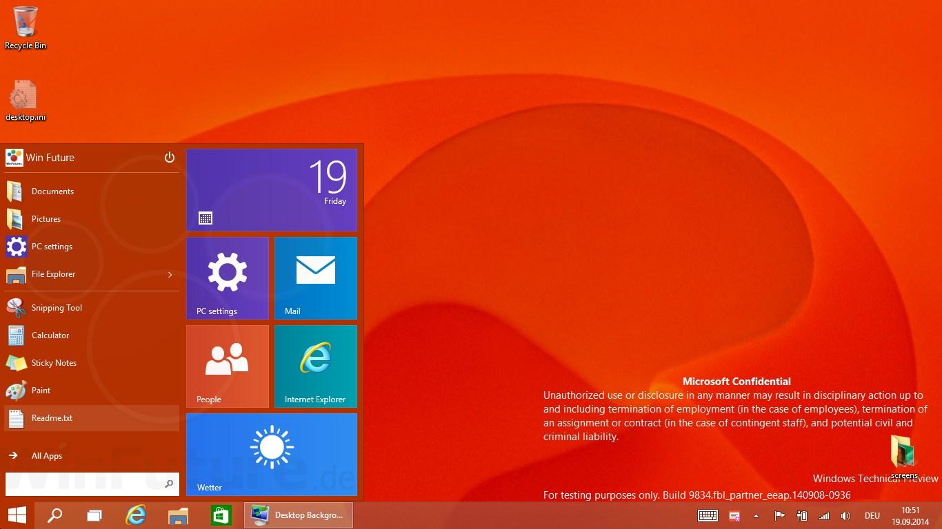 Windows Technical Preview: Neue Version soll schon bald kommen
