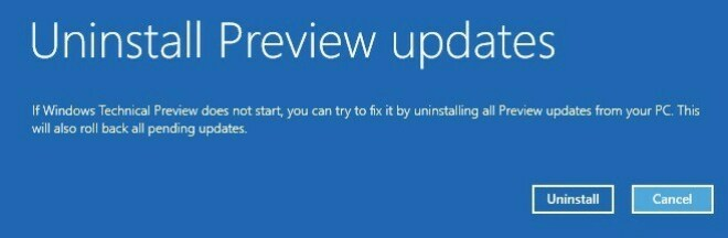 Windows 10: Updates für Preview bei Problemen deinstallieren