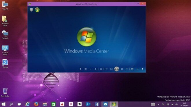 Windows 10: Media Center kann aus Windows 8 'importiert' werden