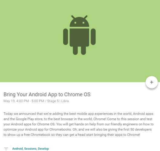 Android Apps für Chrome OS