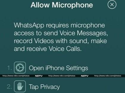 WhatsApp: Hinweis auf 'Voice Calls'