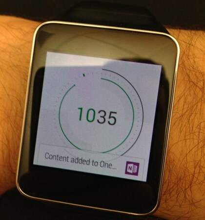 OneNote for Android Wear