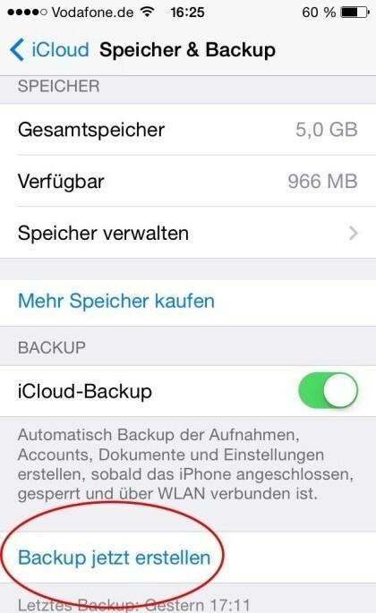 iOS: Backup