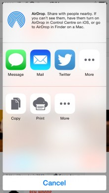 Chrome für iOS 8