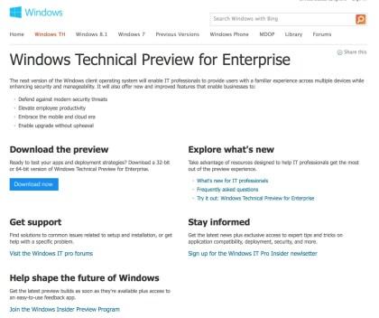 Windows TH (Threshold)