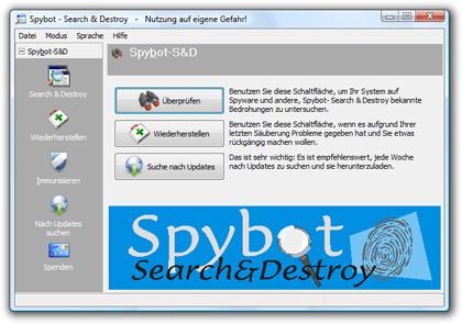 Spyware-Scanner Spybot-S&D