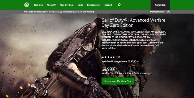 Call of Duty: Advanced Warfare Vorbestellung