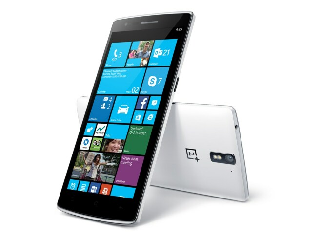OnePlus One mit Windows (Mockup)