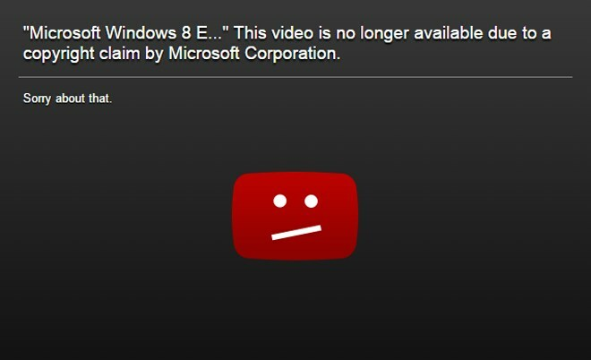 Microsoft YouTube-Takedowns