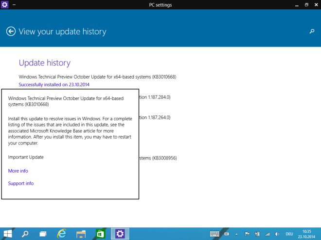 Windows 10 Technical Preview: Neues Update behebt Probleme