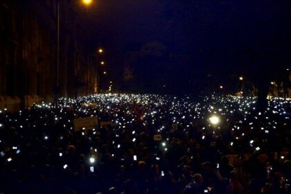 Demo gegen Internet-Steuer in Ungarn