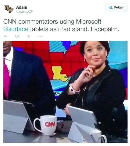 Surface Pro 3 bei CNN