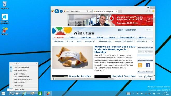 Windows 10 Preview Build 9879 ist da: Die Neuerungen im Überblick