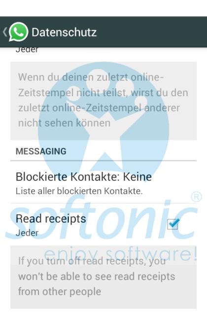 Whatsapp: Häkchen-Funktion