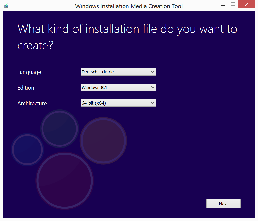 Microsoft Media Creation Tool