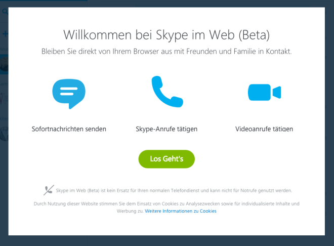 Skype for Web (Beta)