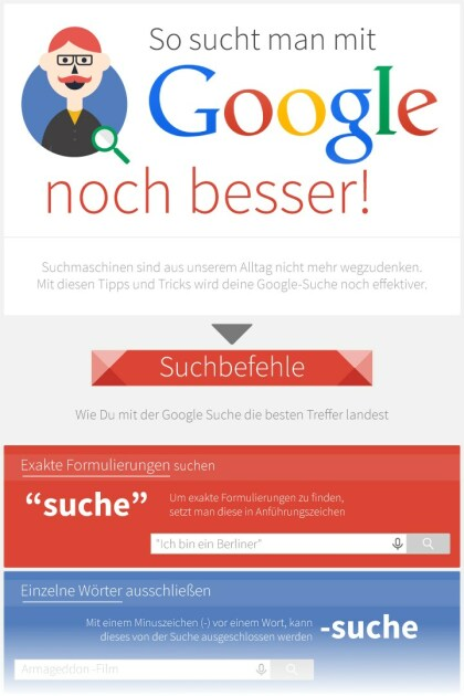 So sucht man mit Google noch besser!